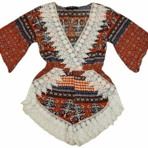 NLW Boho Crochet Lace Romper | Size Small